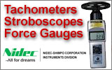 Nidec-Shimpo Instruments Tachometers Stroboscopes and Force Gauges