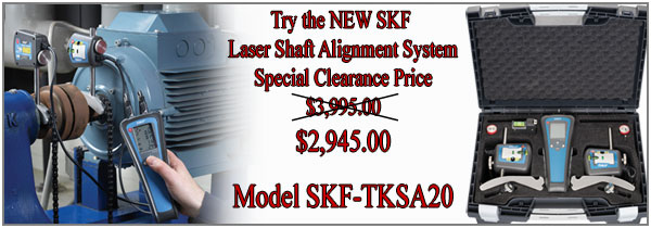 SKF TKSA 20- Laser Shaft Alignment System only $2,895.00