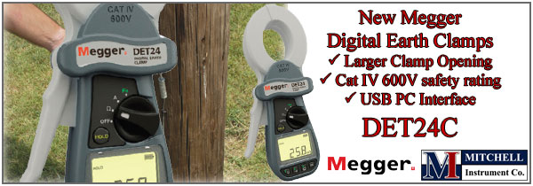 New Megger DET24C Earth Ground Clamp On Tester with Datalogging