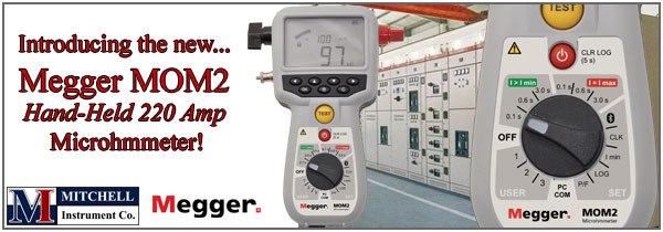 New Megger MOM2 220 Amp Microhmmeter